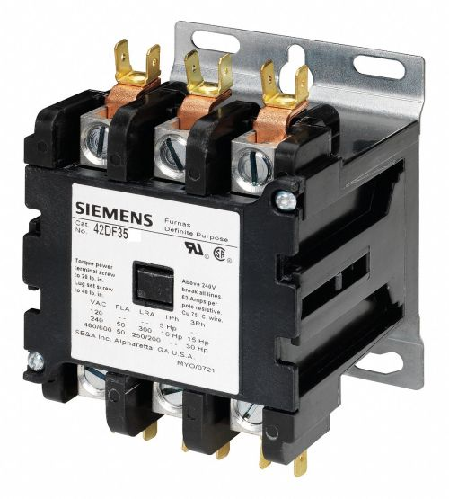 small resolution of siemens 120vac contactor no of poles 3 50 full load amps inductive 6drj7 42df35af grainger