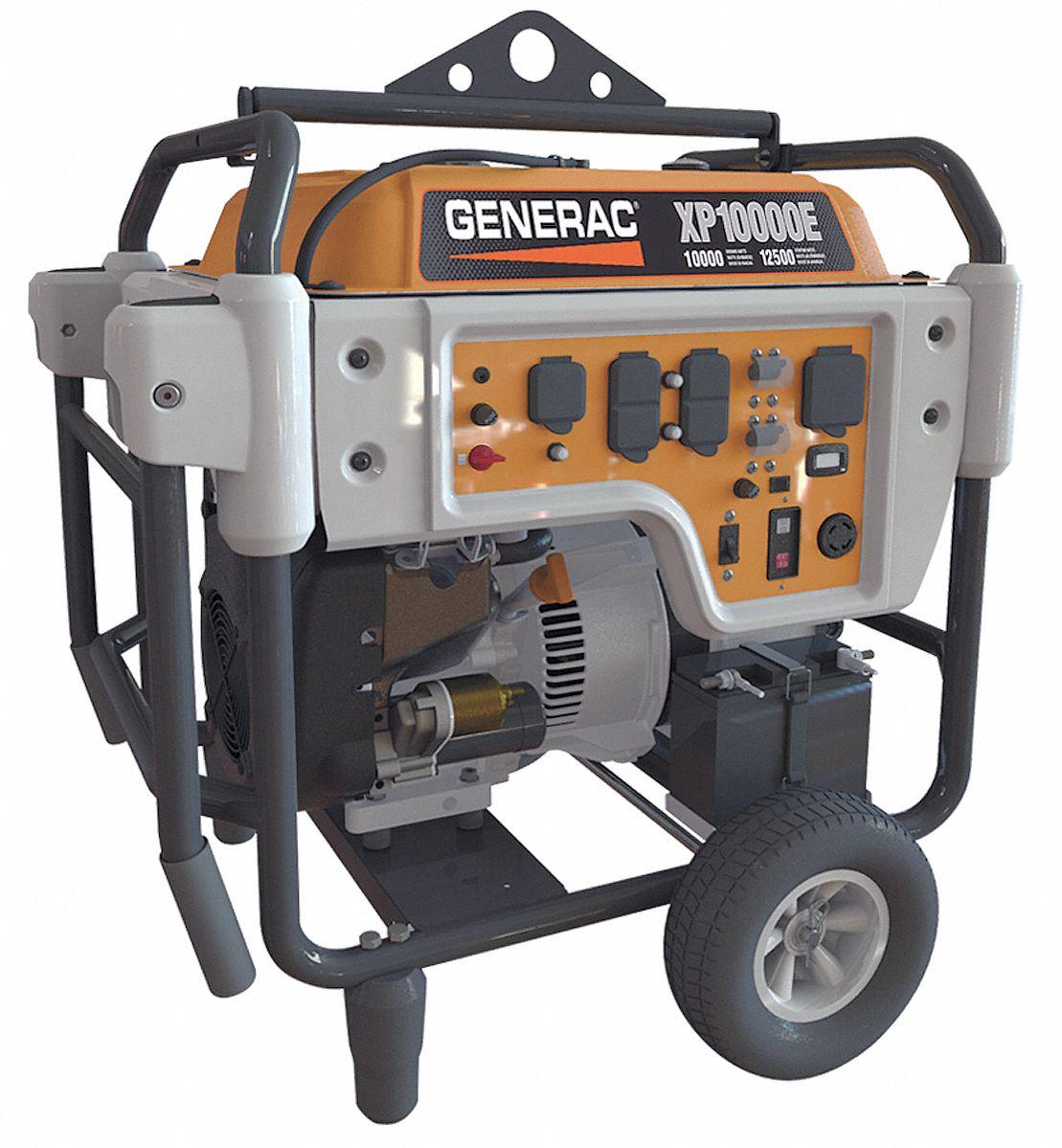 hight resolution of generac electric gasoline portable generator 10 000 rated watts 12 500 surge watts 120vac 240vac 6fdl7 5932 grainger