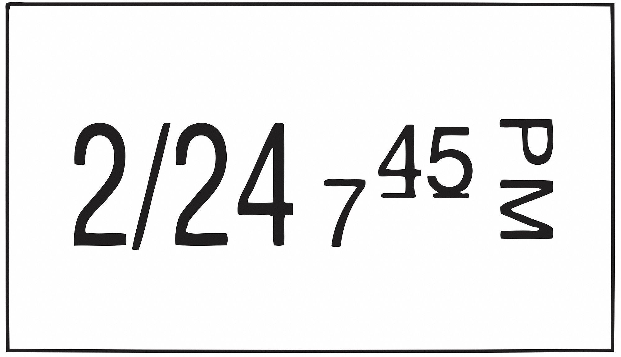 DAYMARK Permanent Date Coder Label, Paper, Rectangle