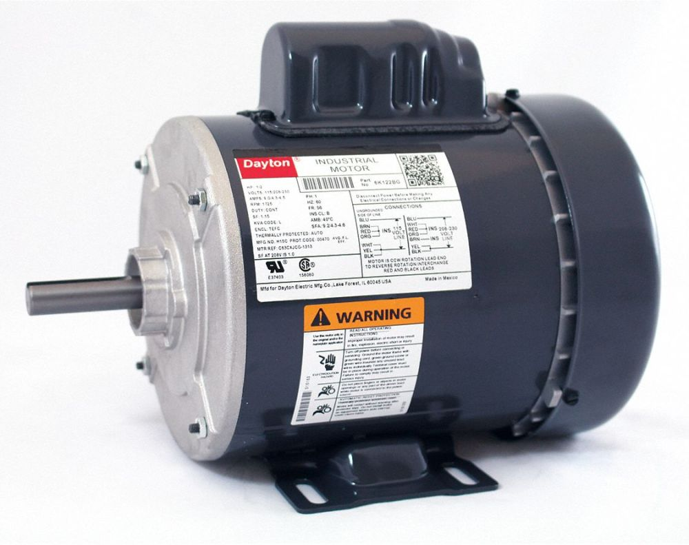 medium resolution of dayton 1 2 hp general purpose motor capacitor start 1725 nameplate 220 electric motor wiring diagram dayton capacitor start motor wiring