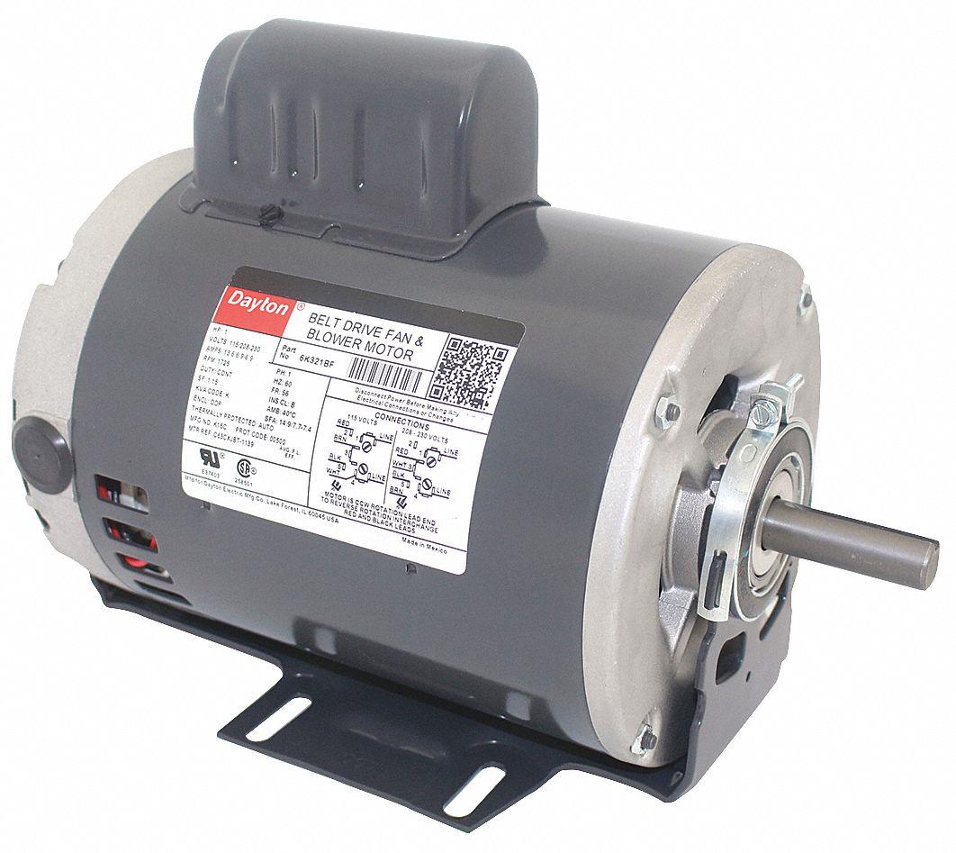 dayton 1 hp electric motor wiring diagram of a 3 way light switch belt drive capacitor start 1725 nameplate rpm 115 208 230 voltage frame 56 6k321 grainger