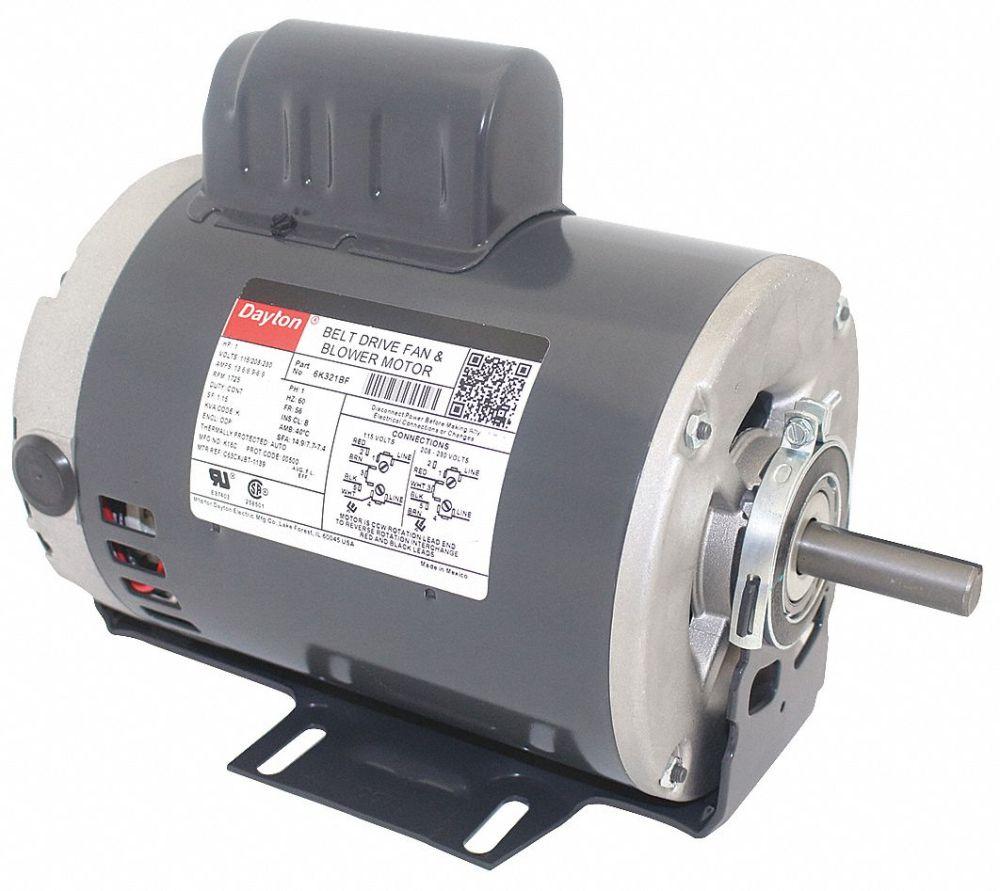 medium resolution of dayton 1 hp belt drive motor capacitor start 1725 nameplate rpm 115 208 230 voltage frame 56 6k321 6k321 grainger
