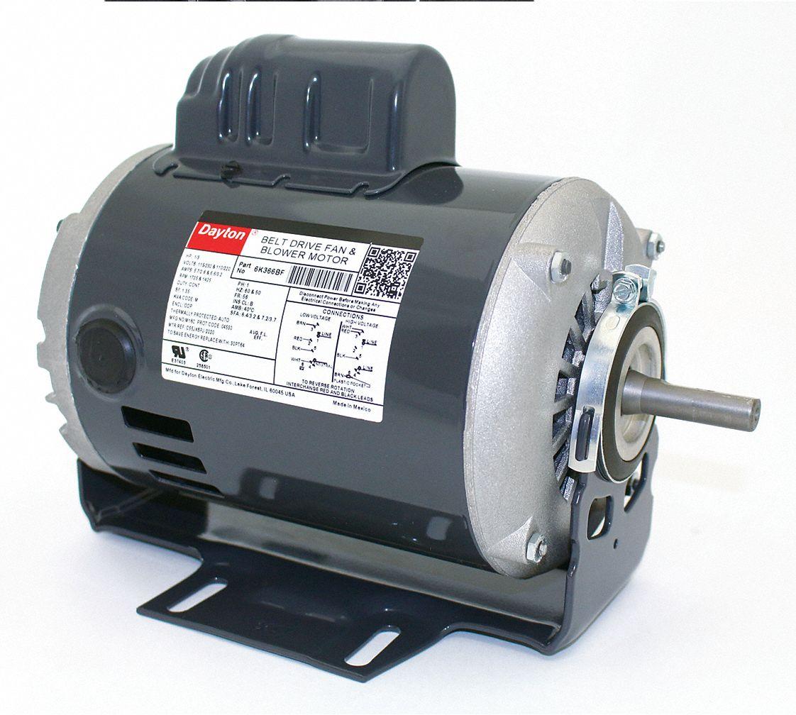 hight resolution of dayton 1 3 hp belt drive motor capacitor start 1725 nameplate rpm 115 230 voltage frame 56 6k366 6k366 grainger