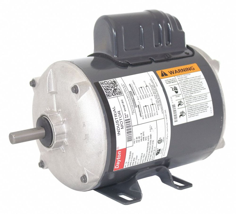 medium resolution of dayton 1 3 hp general purpose motor capacitor start 3450 nameplate rpm voltage 115 208 230 frame 48 6k481 6k481bg grainger