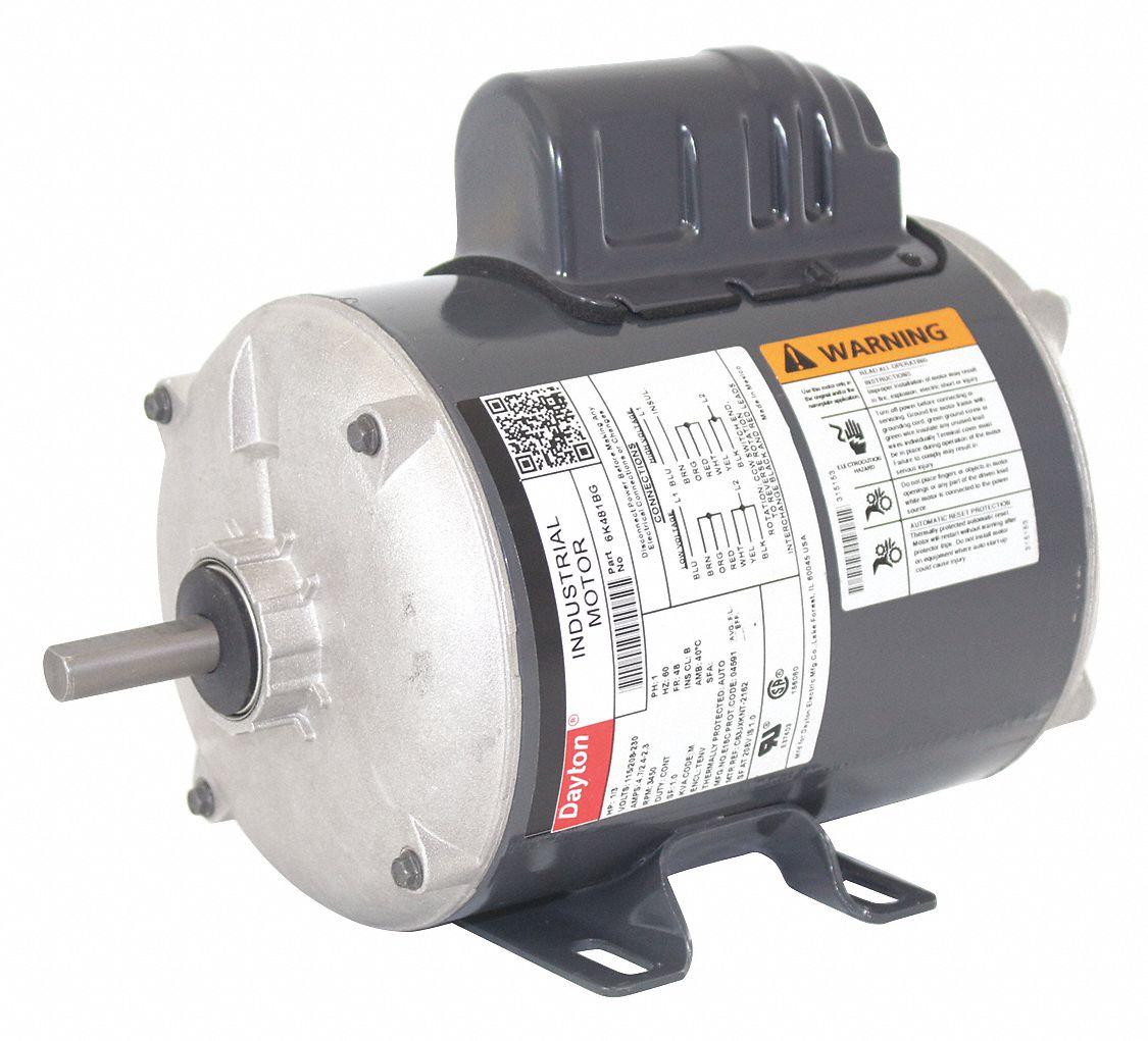 hight resolution of dayton 1 3 hp general purpose motor capacitor start 3450 nameplate rpm voltage 115 208 230 frame 48 6k481 6k481bg grainger