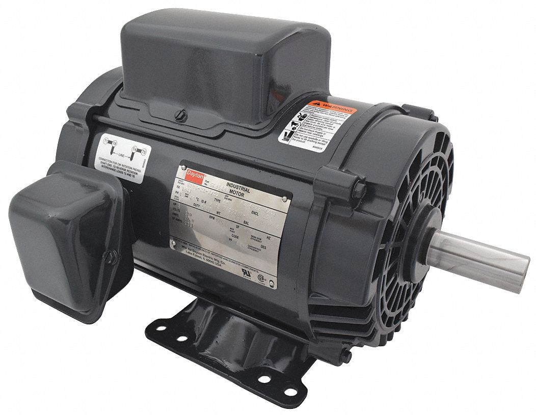 doerr motor wiring diagram draw diagrams dayton 5 hp general purpose capacitor start run 1740 nameplate rpm voltage 230 frame 184t 6k854 grainger