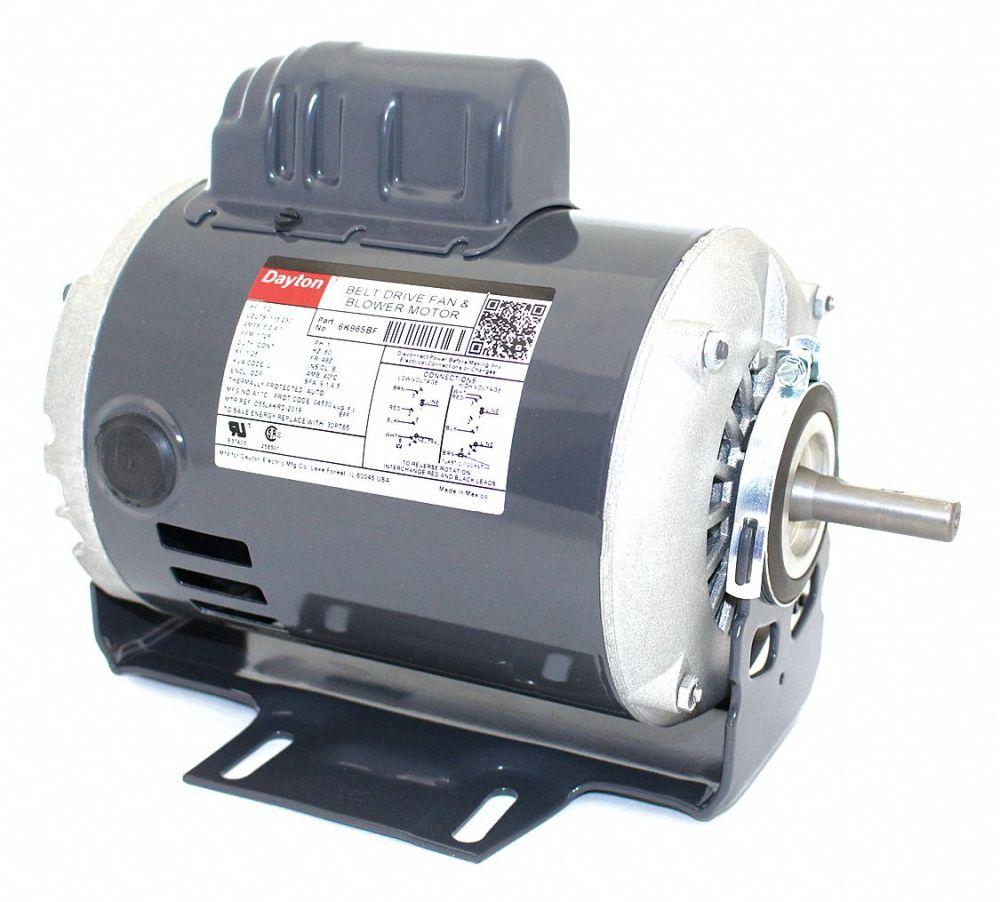 medium resolution of dayton 1 2 hp belt drive motor capacitor start 1725 nameplate rpm 115 230 voltage frame 48z 6k965 6k965 grainger