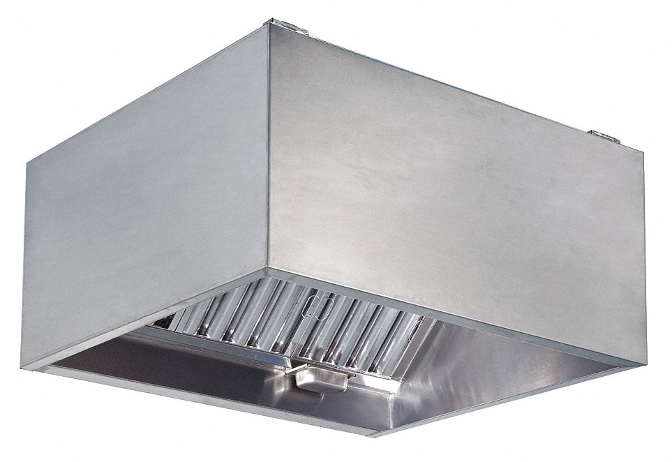 kitchen exhaust outdoor doors dayton commercial hood 430 stainless steel number of light fixtures 4 length 144 6kwl1 grainger