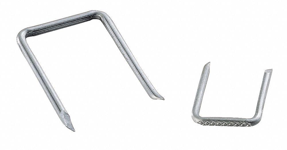 GARDNER BENDER Cable Staple, 1-5/8In, Steel, Srv E, Pk100