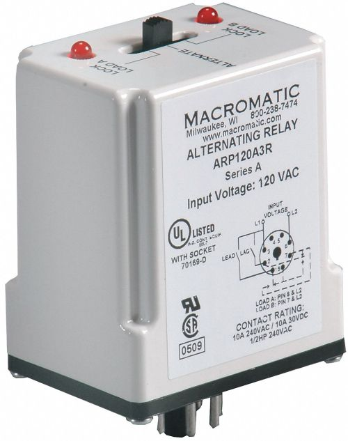 small resolution of macromatic alternating relay 120vac 10a 240v 10a 28v octal base type 8 pins 3 0va dpdt cross wired 6mpn9 arp120a3r grainger
