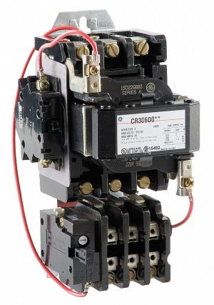 GE Magic Motor Starter, 240VAC Coil Volts, NEMA Size: 2, Starter Type: NEMA  6VDH7 CR306D003
