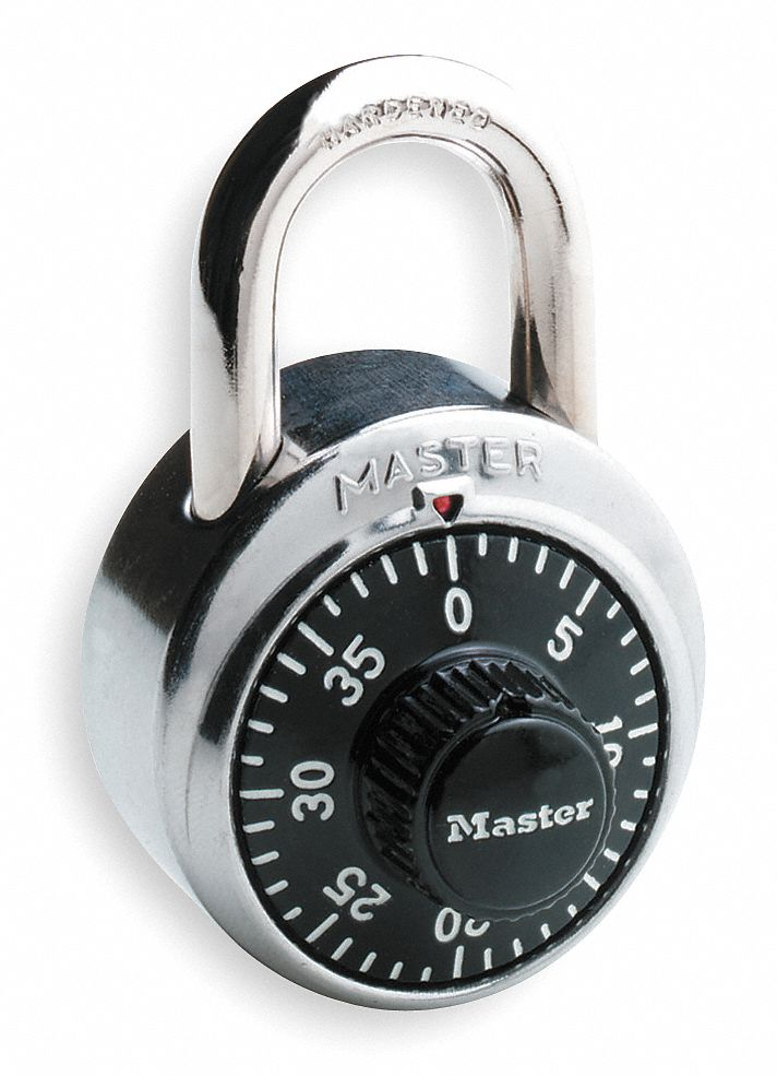 MASTER LOCK Combination Padlock FrontDial Location 34 Shackle Height  3HWJ51525EZRC  Grainger