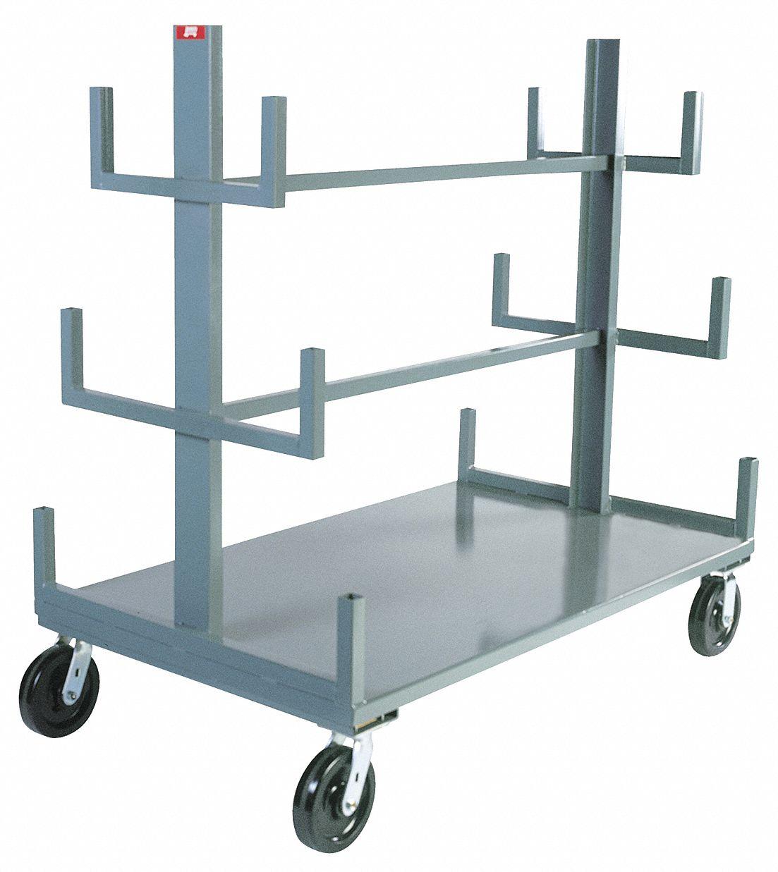 mobile bar pipe rack 4 000 lb load capacity 48 in x 36 in