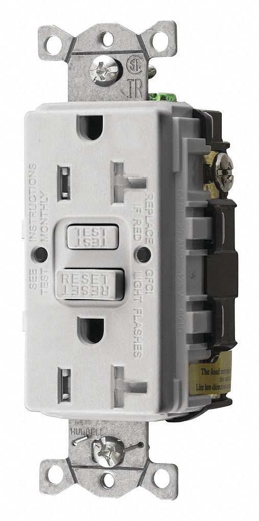 hight resolution of gfci receptacle 20 a white 5 20r 125v