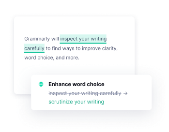 Example of WordChoice