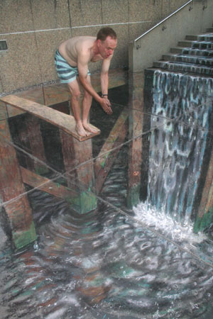 Julian Beever: Diving