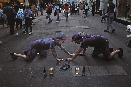 Julian Beever Guy And Beer Drawing