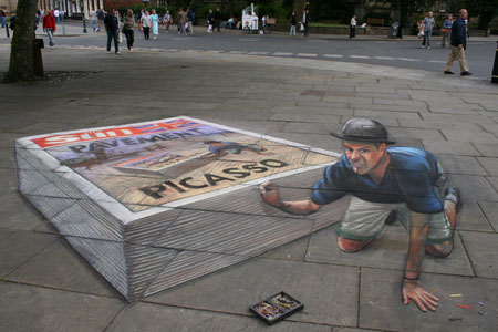 Julian Beever Self-Portrait