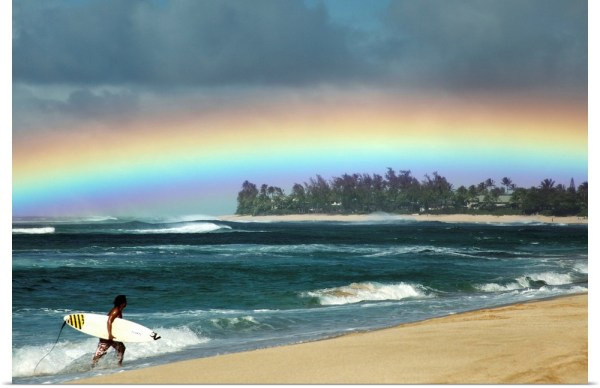 Poster Print Wall Art entitled Hawaii Oahu North Shore