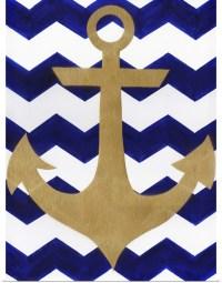 Poster Print Wall Art entitled Chevron Anchor