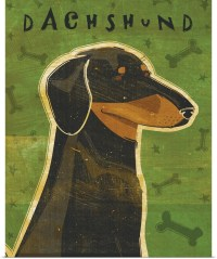 Poster Print Wall Art entitled Dachshund (black and tan ...