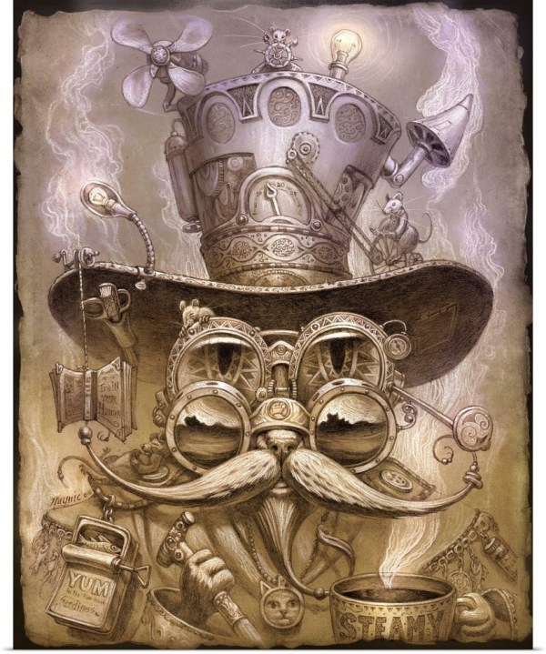Poster Print Wall Art Entitled Steampunk Cat Ii