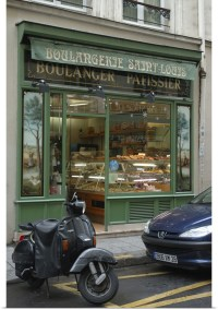 Poster Print Wall Art entitled France, Paris, bakery in ...