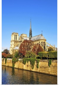 Poster Print Wall Art entitled Notre Dame cathedral, Paris ...