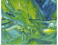 Poster Print Wall Art entitled Oil Painting in Green, Blue ...