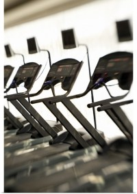 Poster Print Wall Art entitled Treadmills in gym   eBay