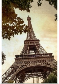 Poster Print Wall Art entitled The Eiffel Tower in Paris ...