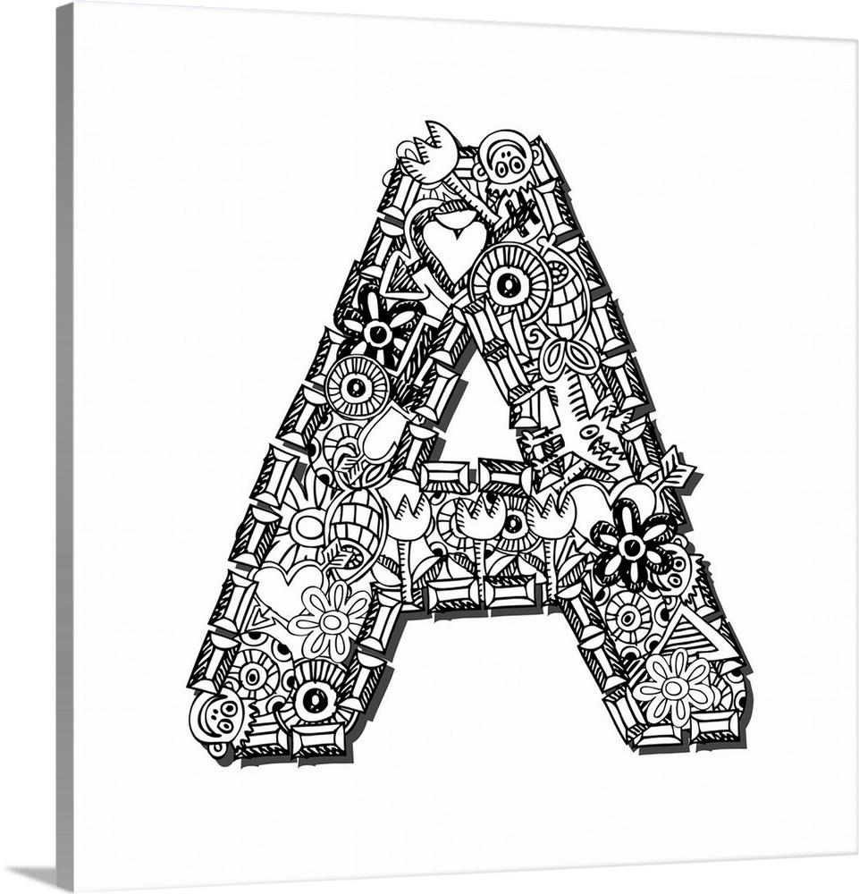 a doodle letter art
