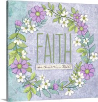 Faith Wall Art, Canvas Prints, Framed Prints, Wall Peels ...
