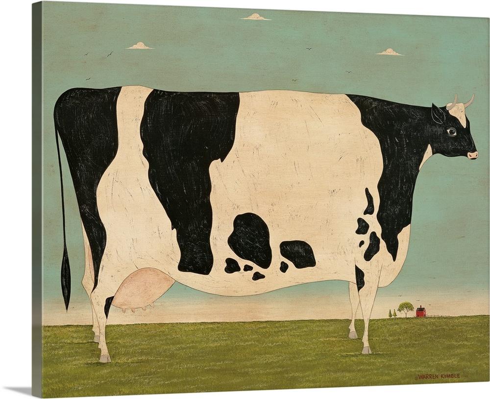large vermont cow
