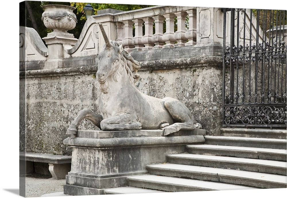 salzburg austria stone unicorn