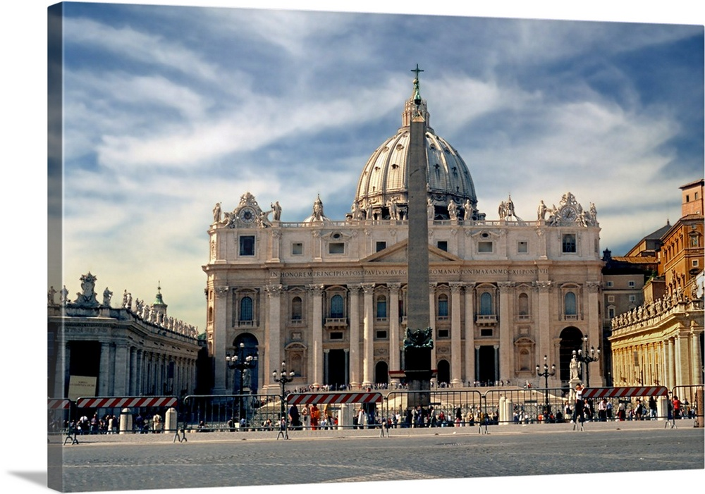 St Peter S Basilica Rome Italy Wall Art Canvas Prints Framed ...