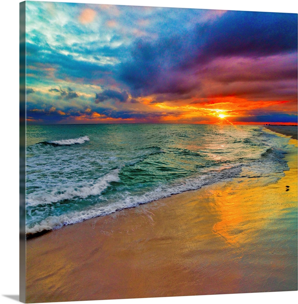 colorful seascape swirling multi