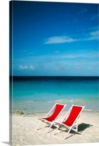 Empty beach chairs, Cancun, Mexico Photo Canvas Print ...