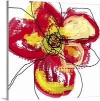 Red Butterfly Flower Wall Art, Canvas Prints, Framed ...