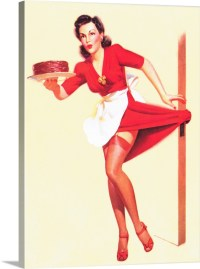 Baking Pin Up Girl Wall Art, Canvas Prints, Framed Prints