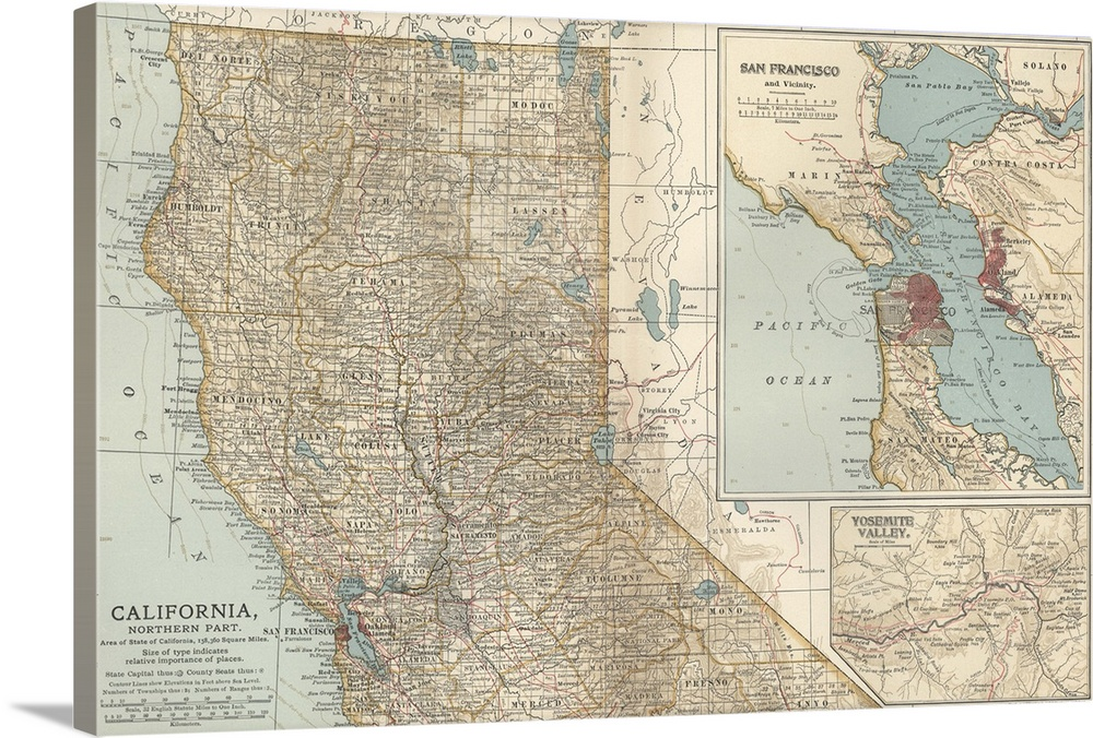 Map California View Benicia Northern