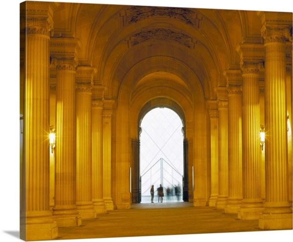 Premium Thick-wrap Canvas Wall Art Entitled Louvre Paris France