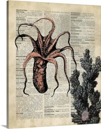Vintage Dictionary Art: Octopus Wall Art, Canvas Prints ...