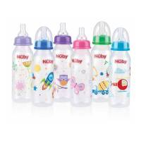 Non-Drip Printed Bottle 240ml Nuby | Shop online at ...