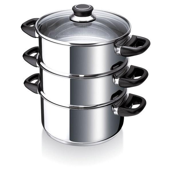 cuit vapeur inox a 2 niveaux polo 2 8l