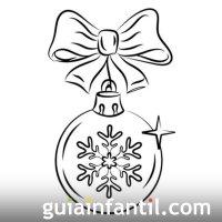 Dibujos navideos. Bola de Navidad para colorear
