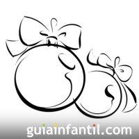 Bolas De Navidad Para Colorear Imprimir. Dibujo De Un
