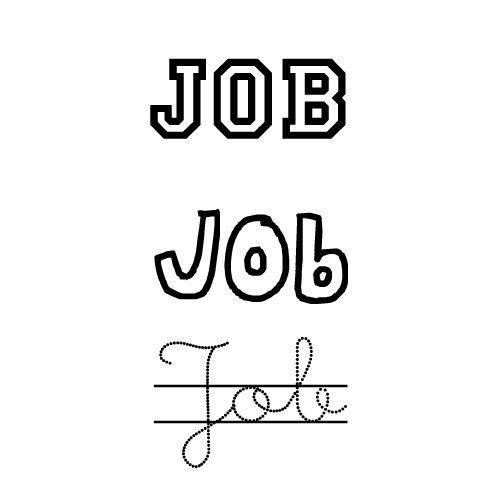 Dibujo para pintar del nombre Job