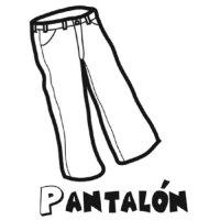 Dibujo de un pantaln para colorear - Dibujos para ...