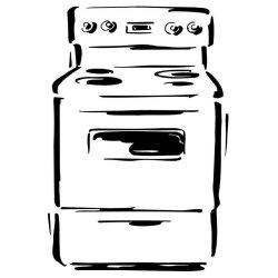 Dibujo para imprimir y pintar de un horno